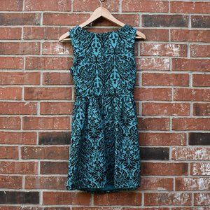 BeBop Blue/Black Patterned Dress